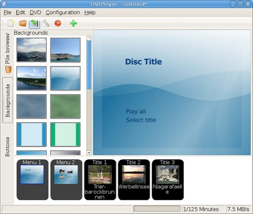 DVDStyler Screenshot