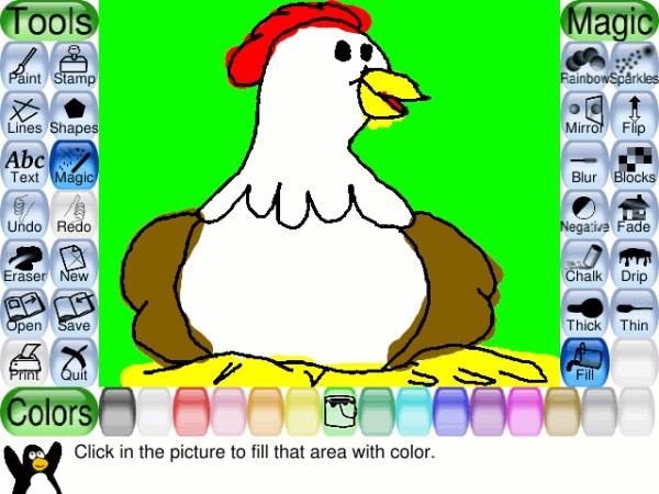 Tux Paint ritprogram för barn