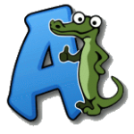 alex the allegator spel logo