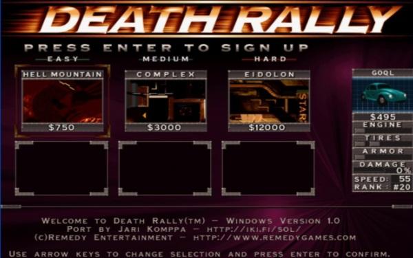 ladda ner Death Rally gratis