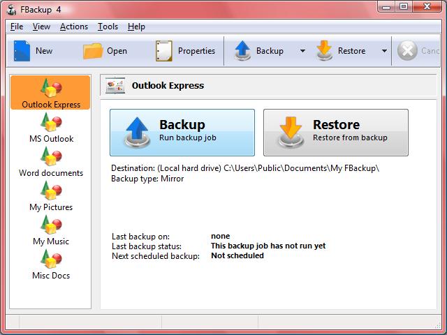 fbackup gratis backupprogram