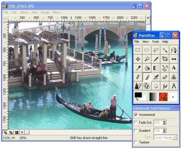 PaintStar gratis foto- och bildbehandling