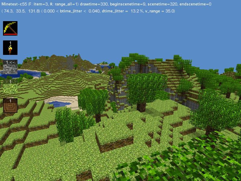 Minetest-c55 klon av minecraft