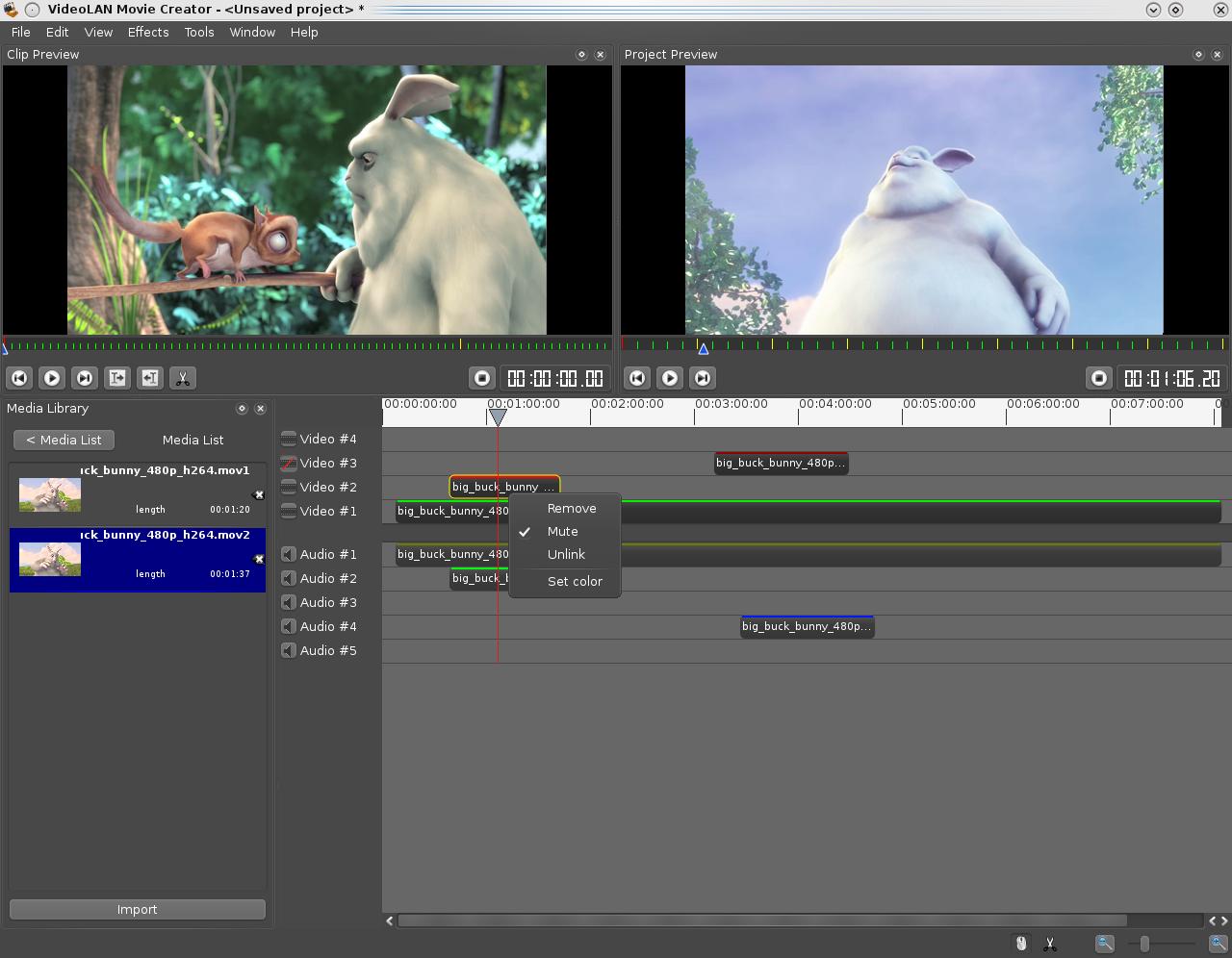 VLMC gratis videoredigeringsprogram